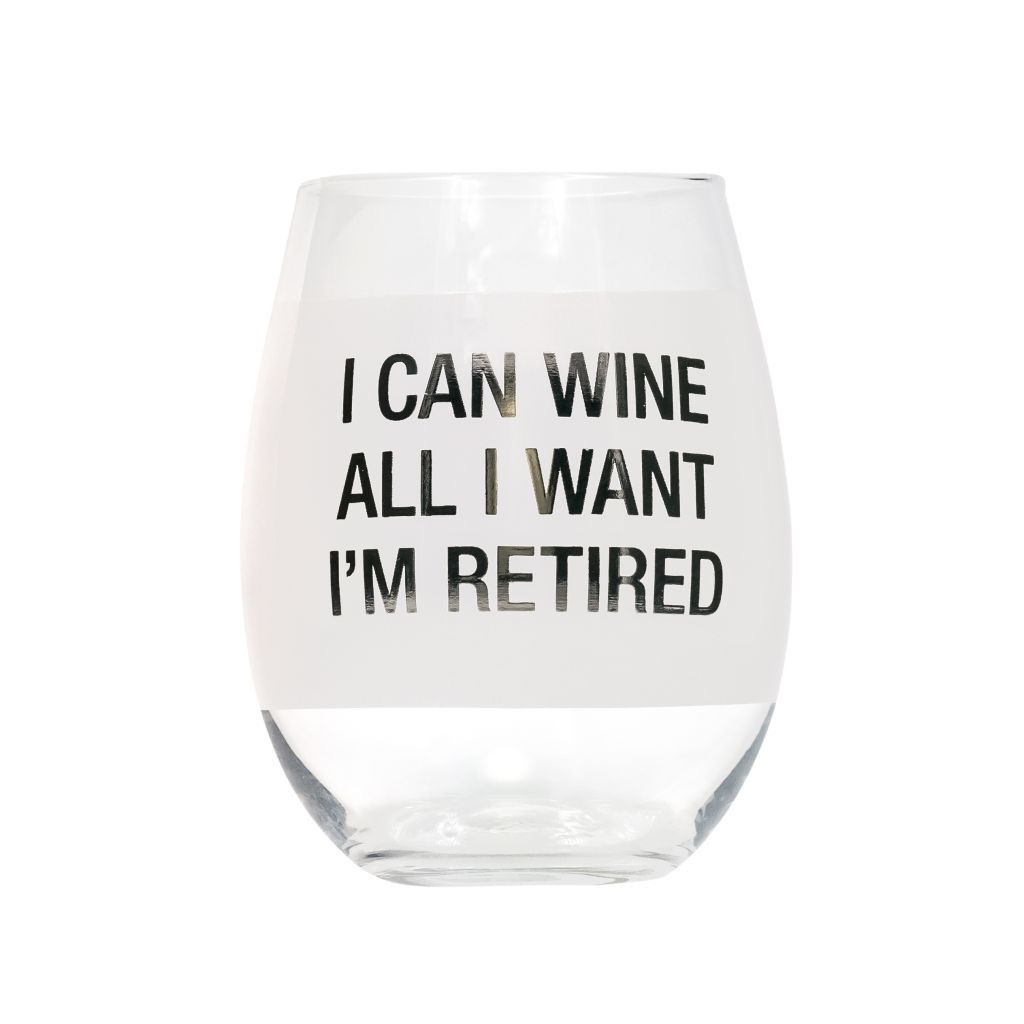 About Face Designs: Wine All I Want Wine Glass
