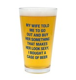 About Face Designs:  A Case of Beer Pint Glass