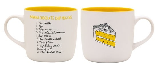 About Face Designs: Banana Chocolate Chip Cake Mug