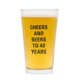 About Face Designs: Beers to 40 Years Pint Glass