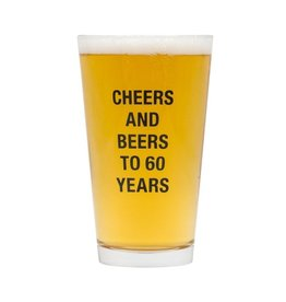 About Face Designs: Beers To 60 Years Pint Glass