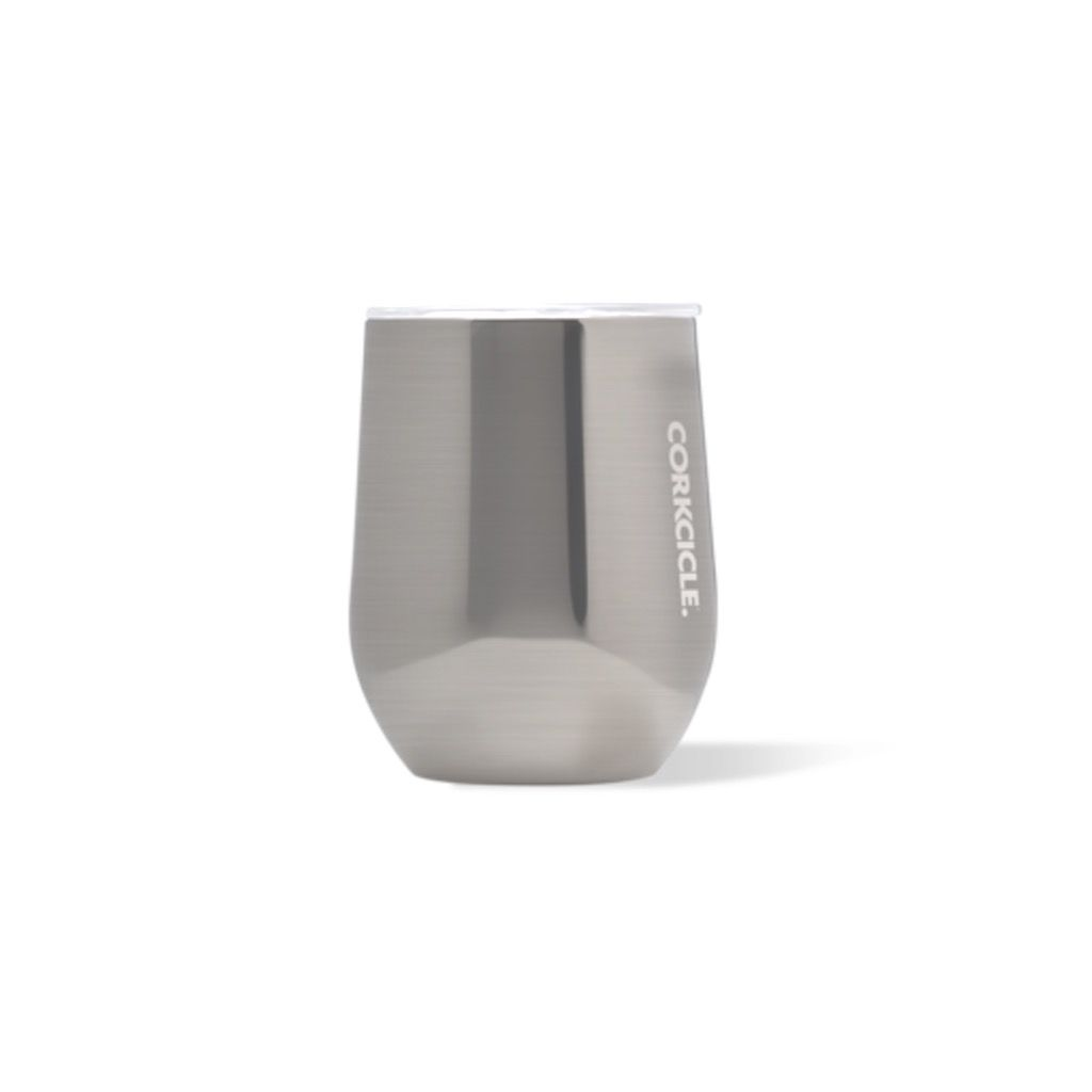 Corkcicle 12 oz. Stemless Brushed Steel