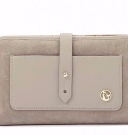 Spartina 449 Suede Snap Wallet Dusty Taupe
