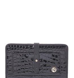 Spartina 449 Croc Snap Wallet Black