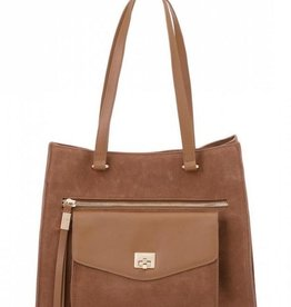Spartina 449 Suede Tote Gingerbread
