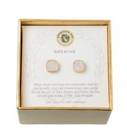 Spartina 449 Sea La Vie Stud Earrings Breathe/Cream Druzy