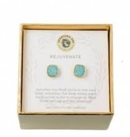 Spartina 449 Sea La Vie Stud Earrings Rejuvenate/Sea Foam Druzy