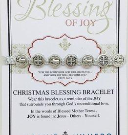 My Saint My Hero - Christmas Blessing Bracelet Metallic Silver