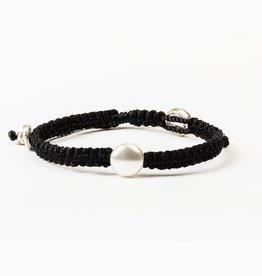 My Saint My Hero - We Pray Wave of Prayer Bracelet - Black/White Pearl