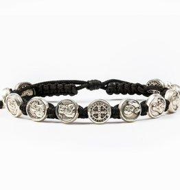 My Saint My Hero - Saints & Heroes Bracelet - Black/Silver Tone