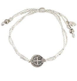 My Saint My Hero - Wedding Party Blessing Bracelet - Silver Metallic/Silver