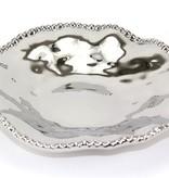 "10"" Dia. Porcelain Plate with Titanium Coating and Beaded Rim"