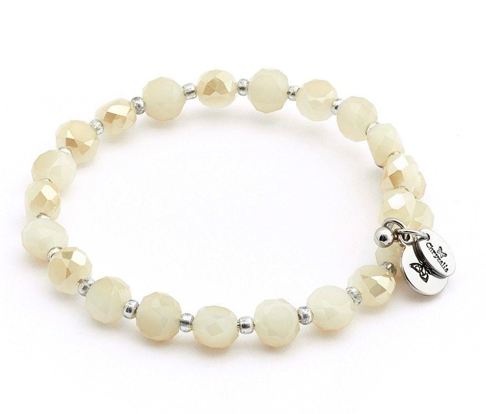 Chrysalis -GAIA Collection-Wrap-Rainbow White Cream Bangle