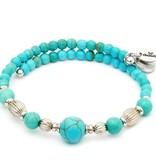 Chrysalis -GAIA Collection-Wrap-Summer-Turquoise Bangle