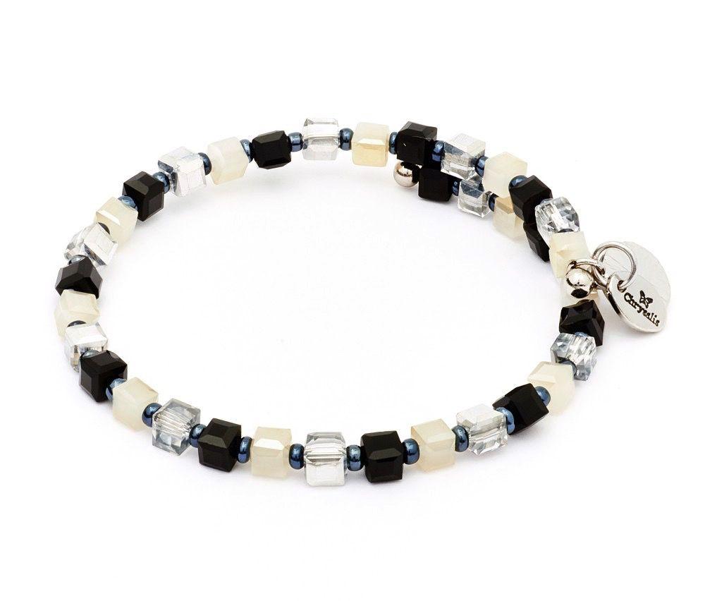 Chrysalis -GAIA Collection-Wrap-Sunset Black & White Bangle