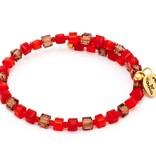 Chrysalis -GAIA Collection-Wrap-Sunset Red Orange Bangle