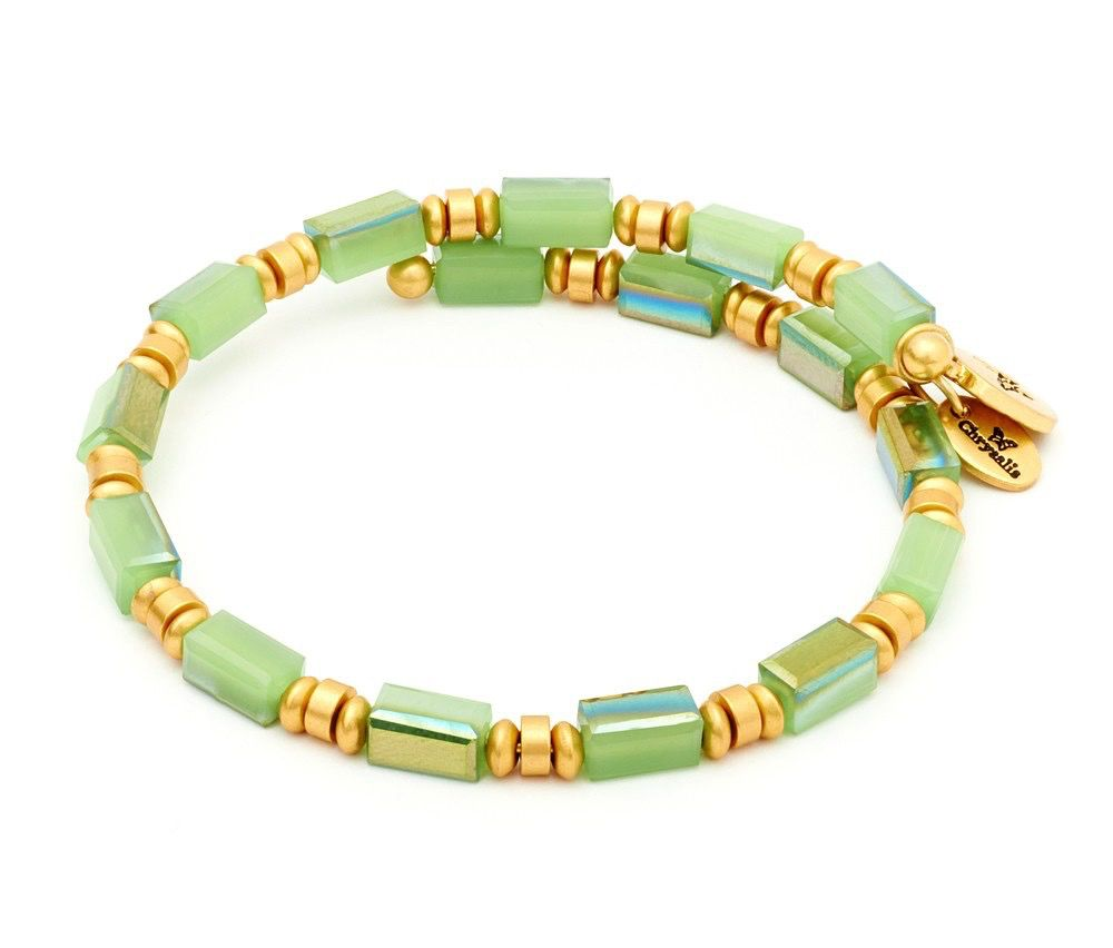Chrysalis -GAIA Collection-Wrap-Water-Green Bangle
