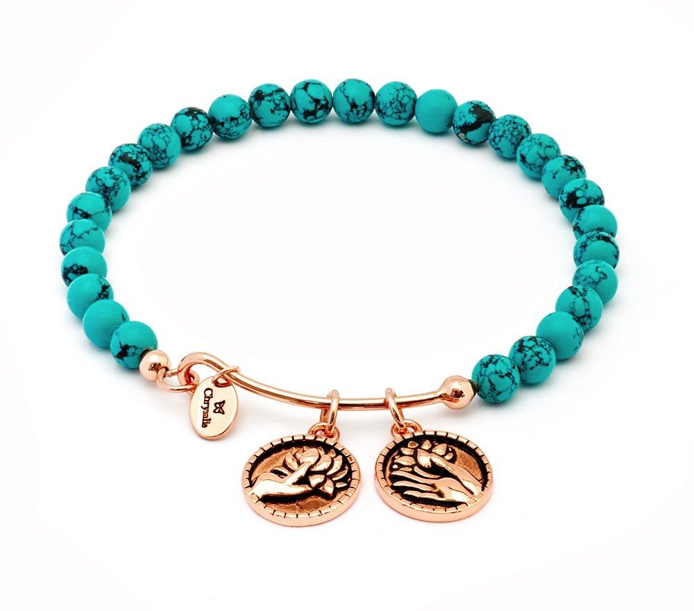 Chrysalis Tranquility Creativity Green Turquoise Expandable Bangle