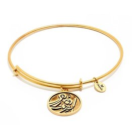 Talisman Collection - St Christopher Expandable Bangle -  Standard Size -Gold