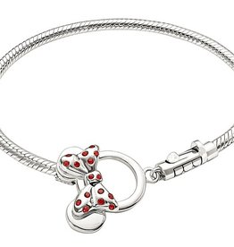 Chamilia Minnie Mouse Toggle Bracelet - Red Swarovski 7.9in