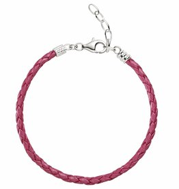 Chamilia One Size Pink Metallic Braided Leather Bracelet
