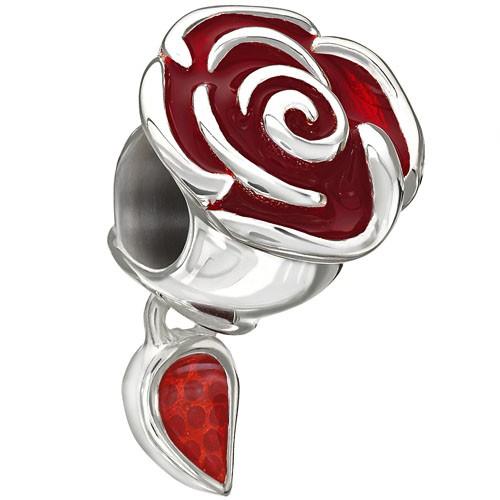 Chamilia Disney - Belle's Enchanted Rose - Red Enamel