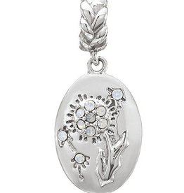 Chamilia My Wish For You - Dandelion - Sterling Silver with White Opal Swarovski Crystal