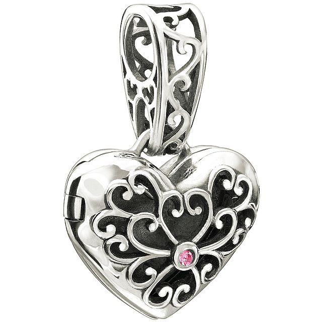 Chamilia Sterling Silver w Stone - In My Heart Locket - Pink Swarovski