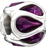 Chamilia Sterling Silver w Stone - Embrace - Purple Swarovski