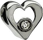 Chamilia Jeweled Heart- Clear CZ