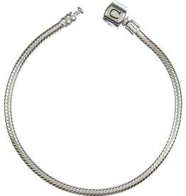 Chamilia Silver Snap Bracelet (23.1 cm/9.1 in)
