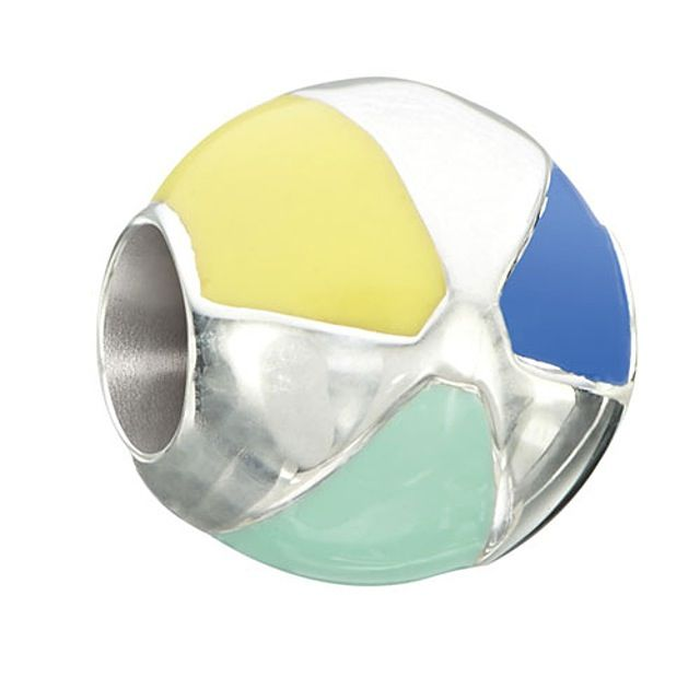Chamilia Life's a Beach - Beach Ball - Sterling Silver with Multi Color Enamel