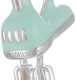 Chamilia Sterling Silver w Light Green Enamel - Beat It Electric Mixer