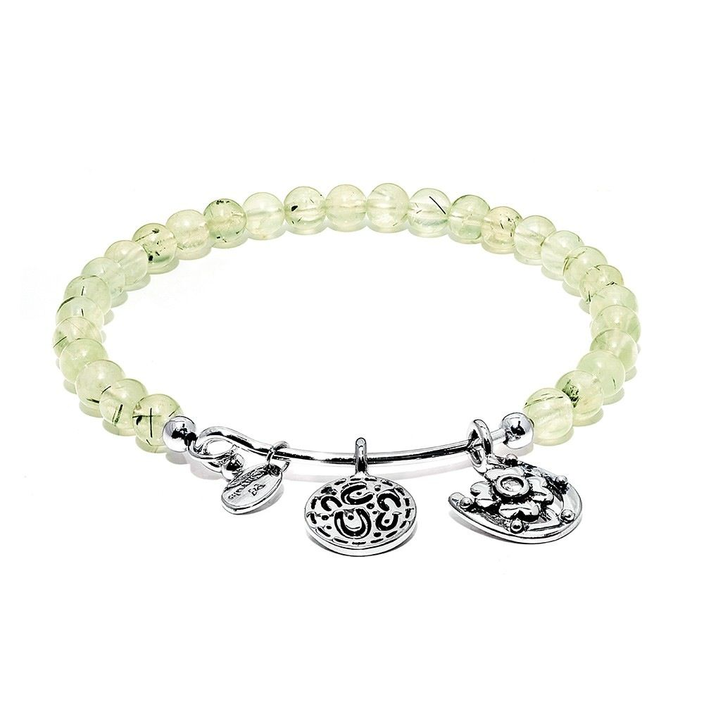 Guardian Prehnite Hope Rhodium Plated Brass - Small Size - Silver