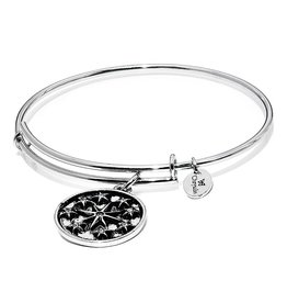 Wonderland Collection-Star Expandable Bangle - Standard Size Silver
