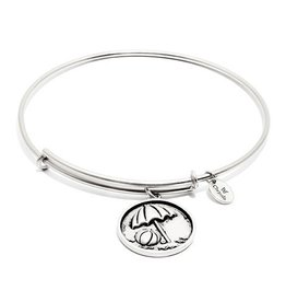 Oceania Collection - Beach Ball Expandable Bangle - Silver - Standard