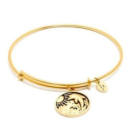 Oceania Collection - Dolphin Expandable Bangle - Gold - Small