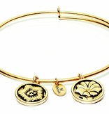 Flourish Collection Expandable Bangle - September Morning Glory - Standard Size - Gold