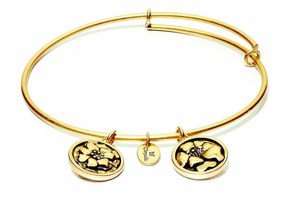 Flourish Collection Expandable Bangle - October Marigold - Standard Size - Gold