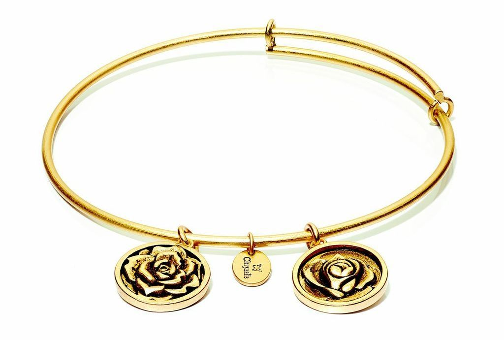 Flourish Collection Expandable Bangle - June Rose- Small Size - Gold