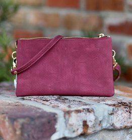 Caroline Hill Liz Custom Crossbody - Perforated Burgundy