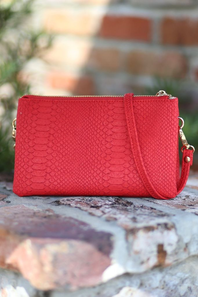 Caroline Hill Liz Custom Crossbody - Snake Red