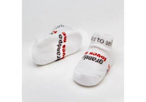 """Notes To Self, llc Infant """"Grandpa Loves Me"""" Socks"""