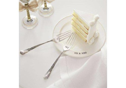Mr. & Mrs. Plate Fork Set