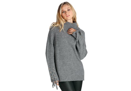 Turtleneck Eyelet Sweater