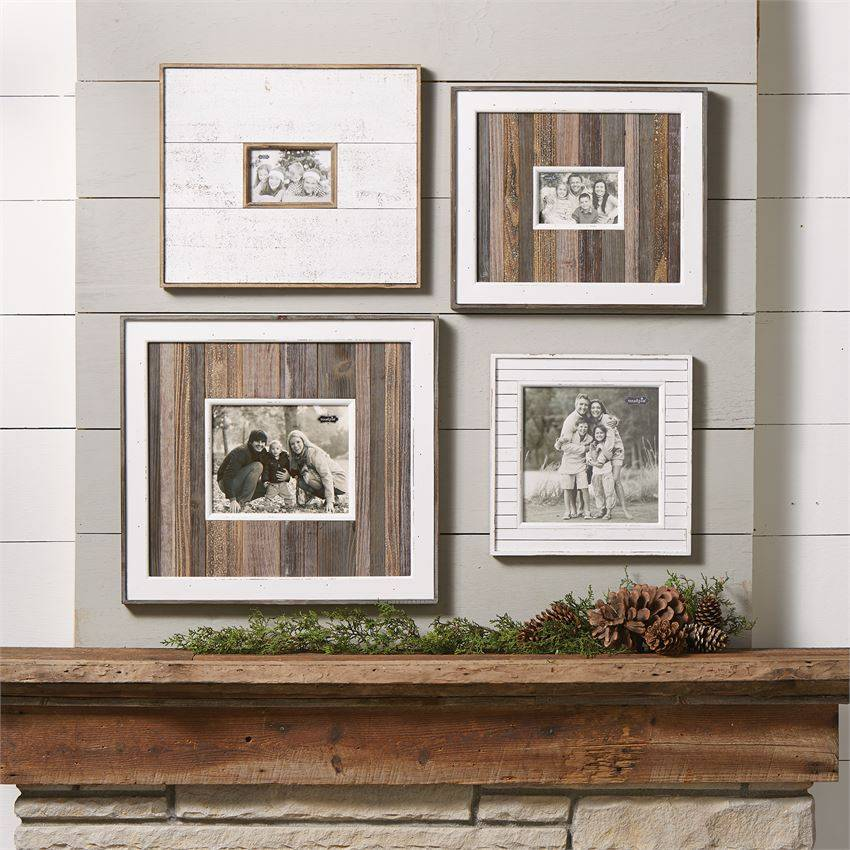 Large White Natural Distressed Frame Trousseaux