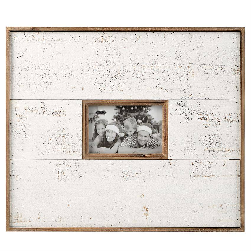 Large White & Natural Distressed Frame - Trousseaux