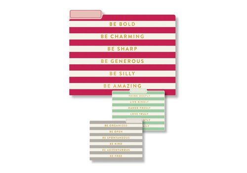 Eccolo Stacked Words File Folder Collection