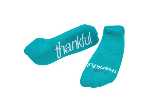 """Notes To Self, llc Notes To Self® """"I Am Thankful"""" Socks"""