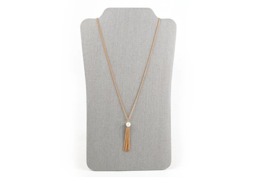 The Royal Standard Pearl Tassel Necklace